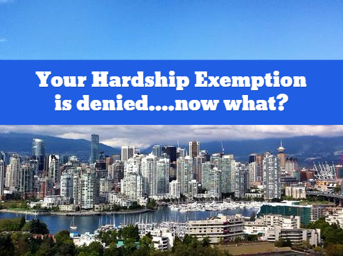strata property act hardship exemption