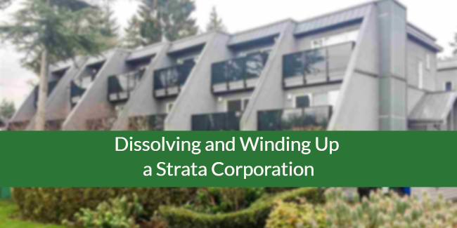 Winding up a strata corporation in BC