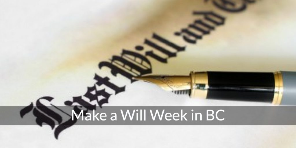 make a will week bc canada railtown law