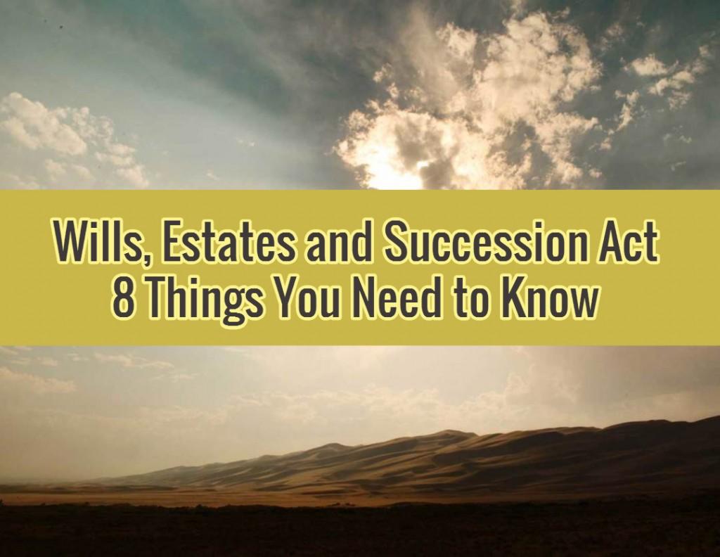 BC Wills Estates and Succession Act