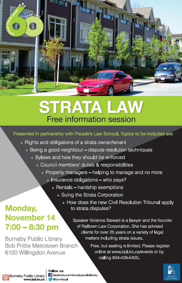 free-strata-law-info-session-railtown-law-vivienne-stewart-poster