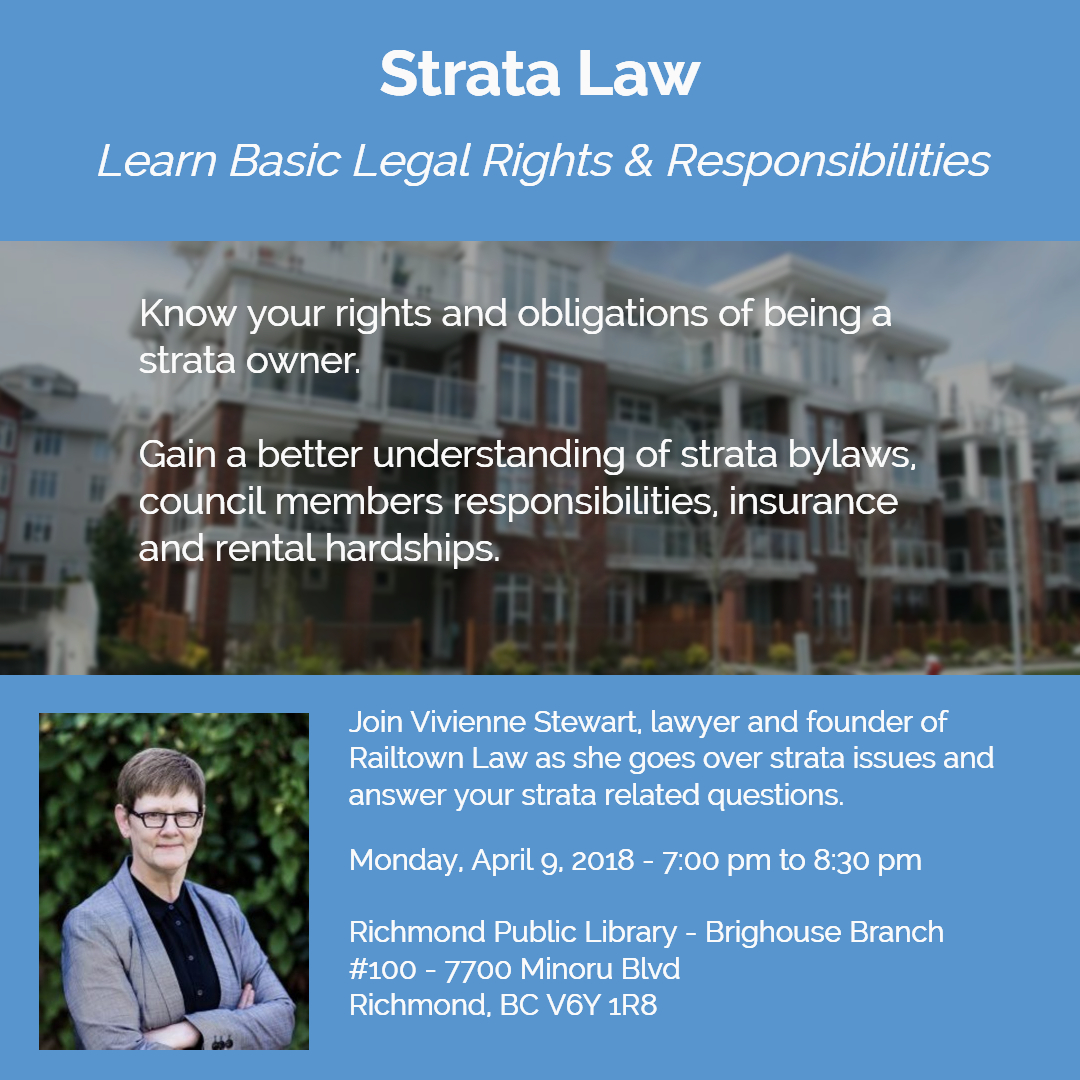 legal education strata law vancouver